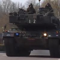Tankbat naar België