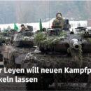 Von der Leyen will neunen Kampfpanzer entwickeln lassen